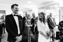 Un couple de mariés au Cap Ferret photographe Clément Herbaux