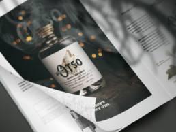 Une bouteille de Gin Otso